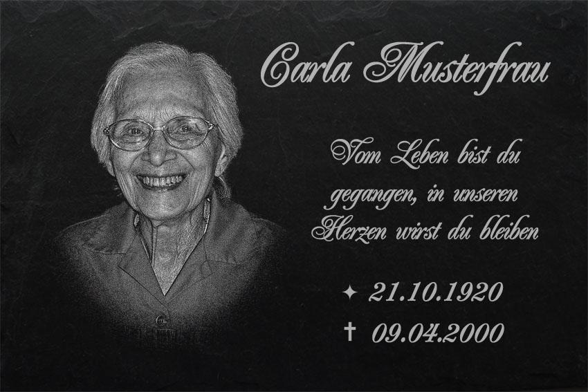 GRABPLATTEN Grabmal Grabschmuck Grabstein-016 ►Ihr Foto Text Gravur◄20 x 15 cm